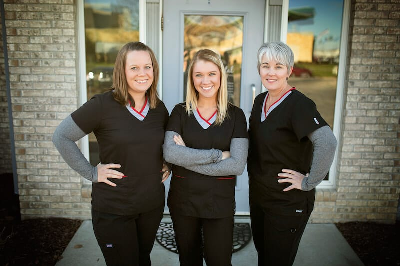 front desk staff at Palmer Dental